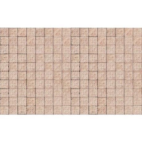 Merci Wallpaper Brooklyn Lattine, delicato rosa, Tin-06