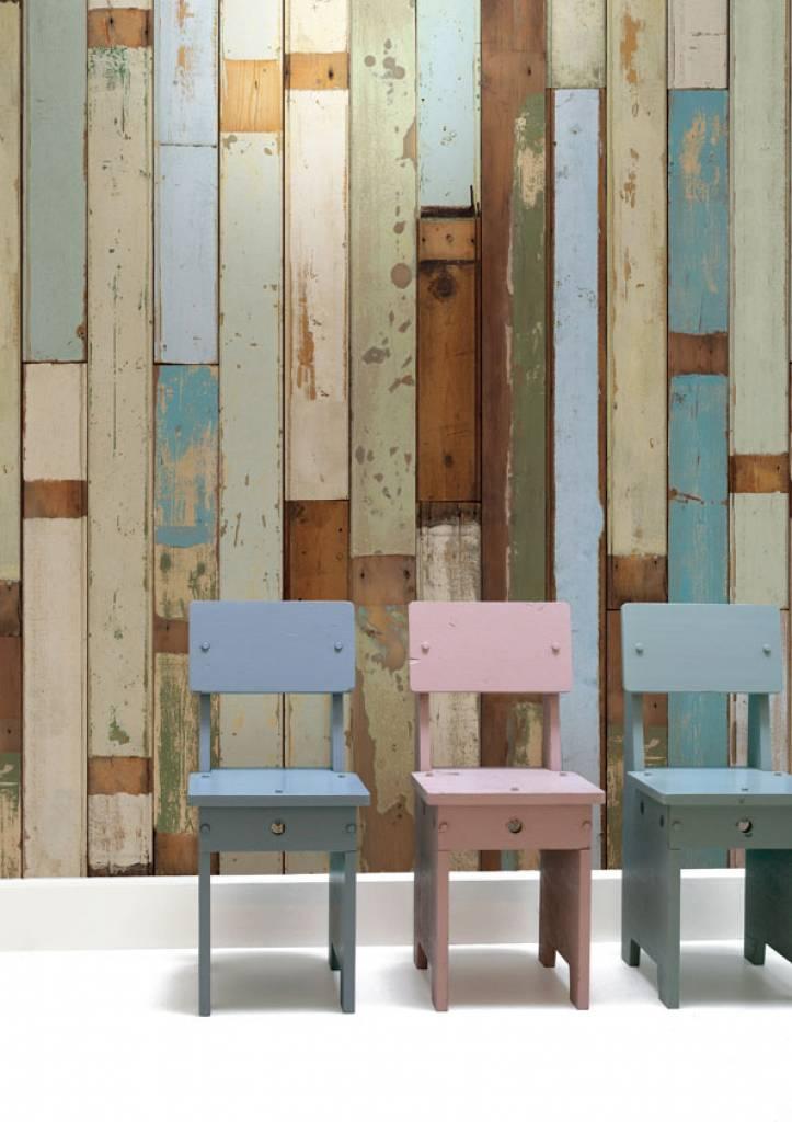 Piet hein eek carta da parati di legno 03 - Faux wood plank wallpaper ...