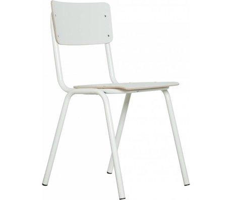Zuiver Sedia torna a scuola, bianco, 43x38x83