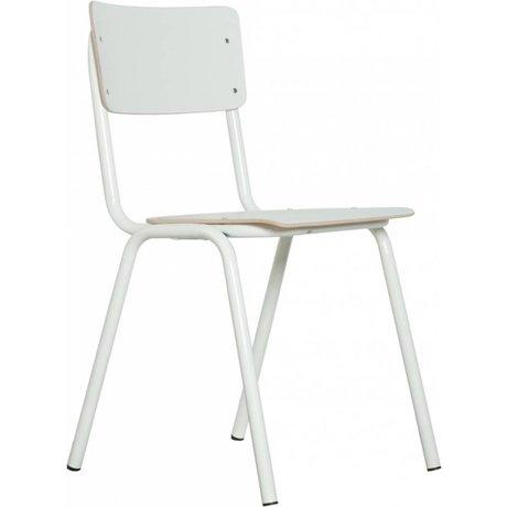 Zuiver Sandalye okula geri, beyaz, 43x38x83