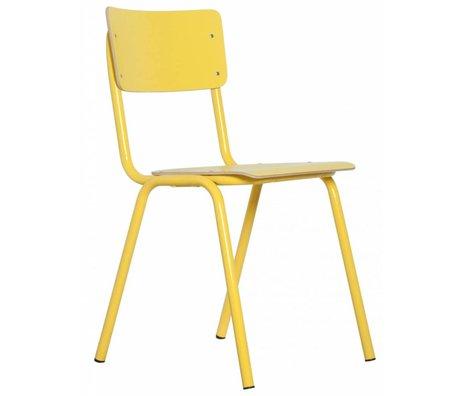 Zuiver Chaise à l'école, jaune, 43x38x83