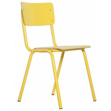 Zuiver Stol tilbage til skolen, gul, 43x38x83