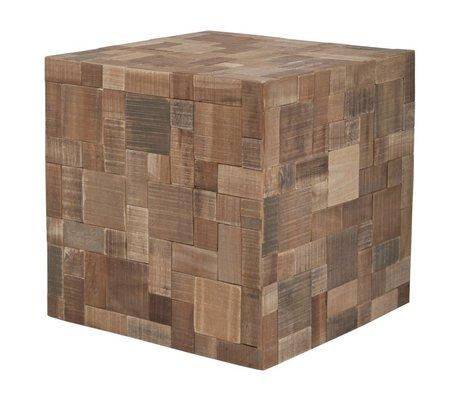 Zuiver Sitzkissen aus Holz, braun, 40x40x40cm
