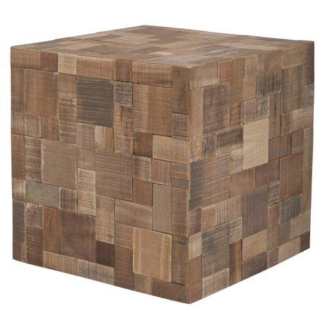 Zuiver Cojines de asiento de madera, marrón, 40x40x40cm
