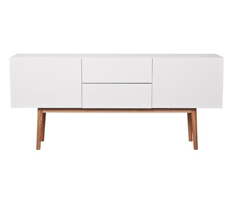 Zuiver TV-Schrank High on Wood aus Holz, weiß, 160x40x71,5cm