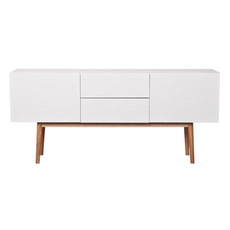Zuiver TV-Schrank High on Wood aus Holz, weiß, 160x40x71,5cm