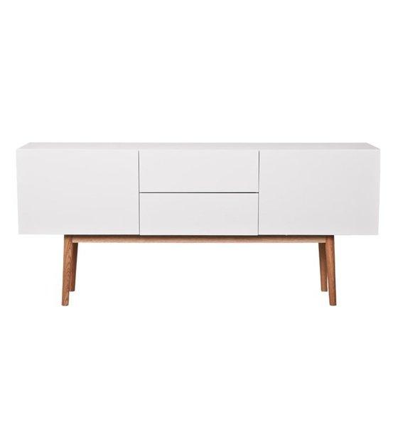 zuiver meuble tv haut sur bois en bois blanc 160x40x71