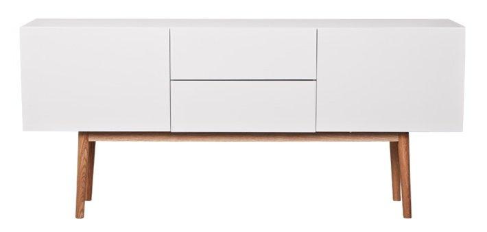 Meuble Tv Haut Bois : Zuiver Meuble Tv Haut Sur Bois En Bois, Blanc, 160x40x71,5cm