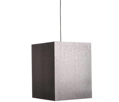 Zuiver Lámpara colgante Pesado Ligero cartón hormigón, gris, 38x38x48cm