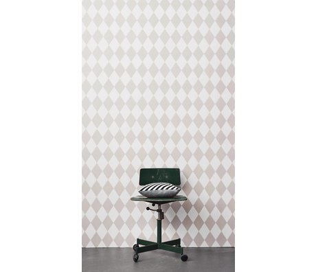 Ferm Living Harlequin wallpaper, pink / white, 10,05 x0, 53m