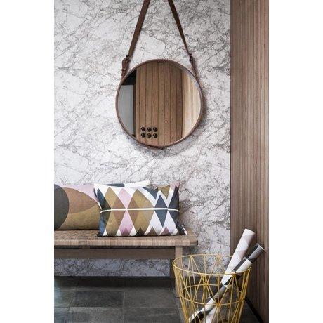 Ferm Living Tapet marmor, hvid / grå, 10.05mtrx53cm