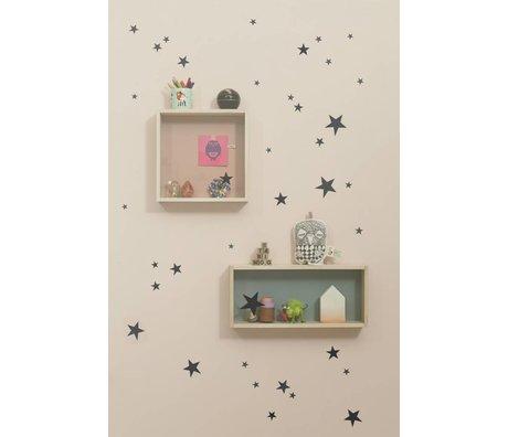 Ferm Living Vægoverføringsbillede stjerne sort vinyl