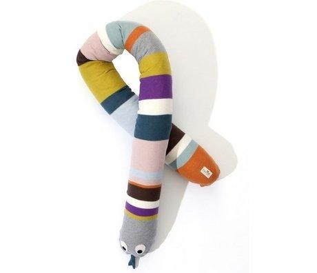 Ferm Living Yastık Yılan pamuk, çok renkli, 180cm