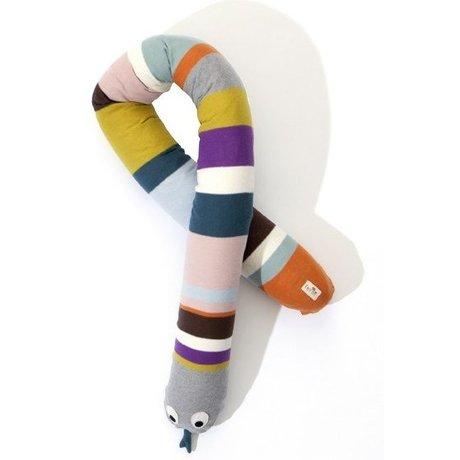 Ferm Living Kissen Schlange aus Baumwolle, multicolor, 180cm