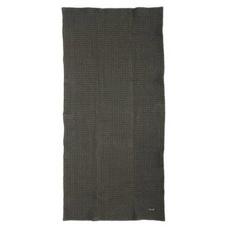 Ferm Living Asciugamano in cotone organico, grigio, 50x100cm e 70x140cm