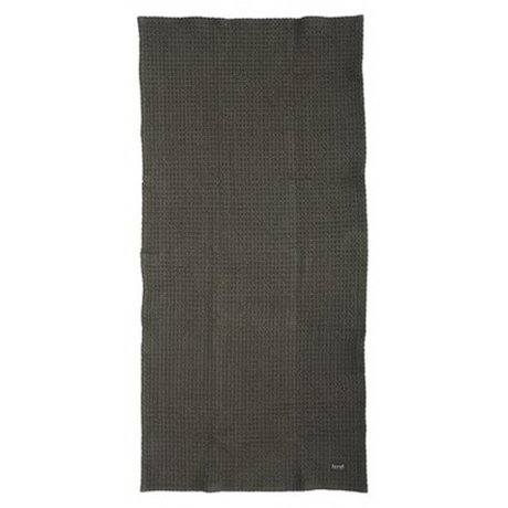 Ferm Living Serviette en coton organique, gris, 50x100cm ou 70x140cm