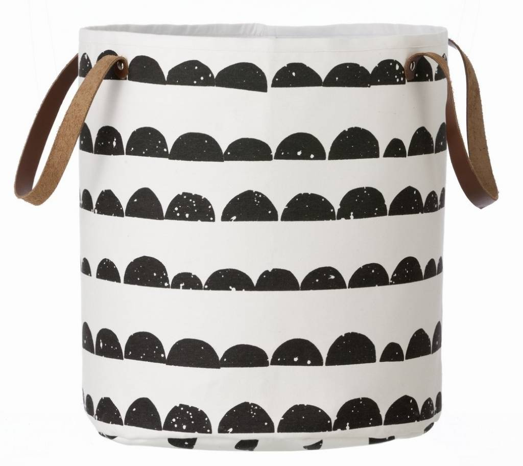 ferm living laundry basket half moon black white 35x40cm. Black Bedroom Furniture Sets. Home Design Ideas