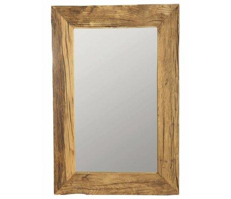 Housedoctor Miroir cadre en bois recyclé, brun, 60x90 cm