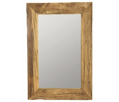 Housedoctor Mirror frame with recycled wood, brown, 60x90 cm