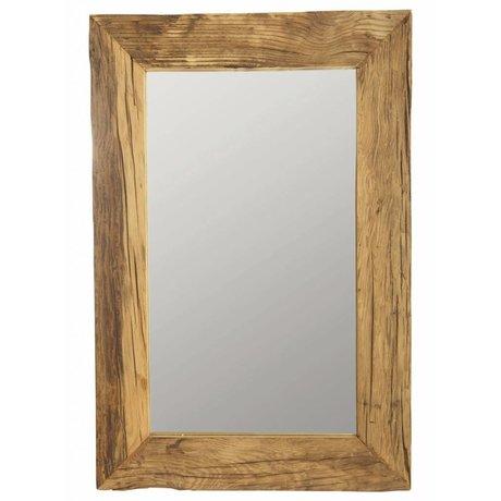Housedoctor Specchiera con legno riciclato, marrone, 60x90 cm