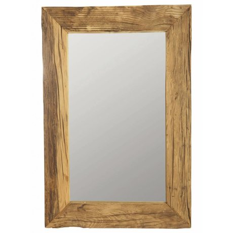 Housedoctor Spiegel mit recyceltem Holzrahmen, braun, 60x90 cm