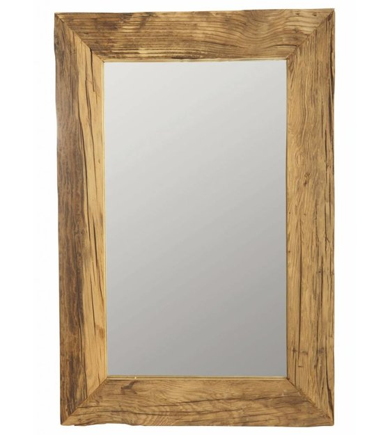 housedoctor mirror frame with recycled wood brown 60x90. Black Bedroom Furniture Sets. Home Design Ideas