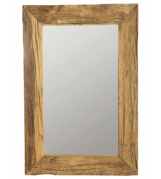 housedoctor spiegel mit recyceltem holzrahmen braun. Black Bedroom Furniture Sets. Home Design Ideas