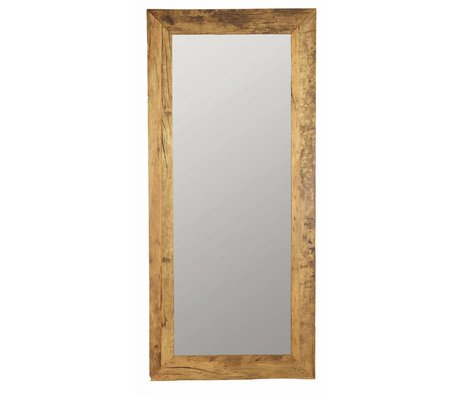 Housedoctor Mirror made of recycled wood, brown, 95x210cm
