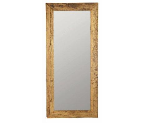 Housedoctor Spiegel aus recyceltem Holz, braun, 95x210cm