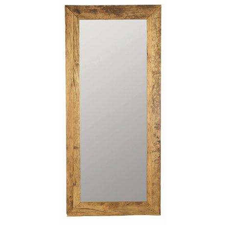 Housedoctor Espejo de madera reciclada, marrón, 95x210cm