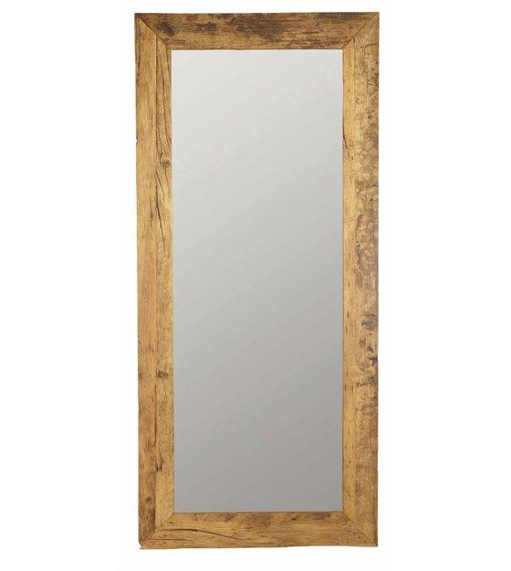 housedoctor spiegel aus recyceltem holz braun 95x210cm. Black Bedroom Furniture Sets. Home Design Ideas