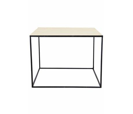 Housedoctor Mesa de centro hecha de metal, negro / cobre, 60x60x45cm