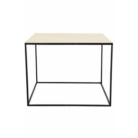 Housedoctor Sofabord lavet af metal, sort / kobber, 60x60x45cm
