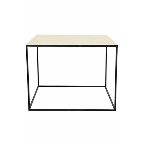 Housedoctor Table basse en métal, noir / cuivre, 60x60x45cm