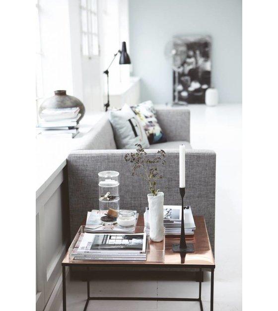 housedoctor couchtisch aus metall schwarz kupfer 60x60x45cm. Black Bedroom Furniture Sets. Home Design Ideas