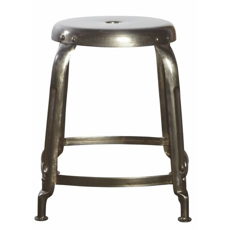 Housedoctor Tabouret en métal, gris, Ø36x45cm