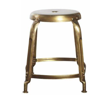 Housedoctor Sgabello in metallo, oro, Ø36x45cm