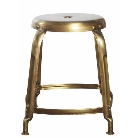Housedoctor Hocker aus Metall, gold, Ø36x45cm