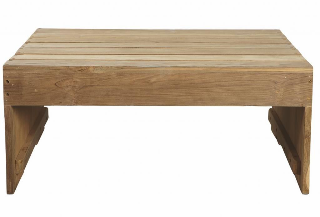 housedoctor couchtisch aus teakholz braun 82x70x35cm. Black Bedroom Furniture Sets. Home Design Ideas
