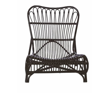 Housedoctor Chaise longue di bambù, nero, 90x55x80cm