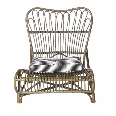 Housedoctor Chaise longue di bambù, marrone, 90x55x80cm