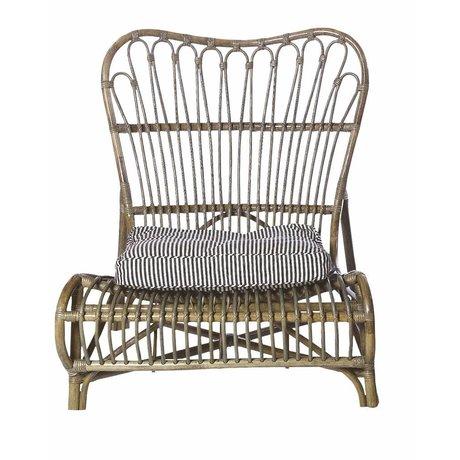 Housedoctor Chaise longue en bambou, brun, 90x55x80cm