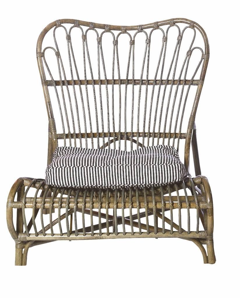 lounge stol lavet af bambus brun 90x55x80cm. Black Bedroom Furniture Sets. Home Design Ideas