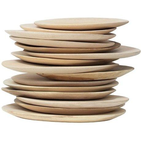 HK-living Træplade, brun, diameter 24-30cm