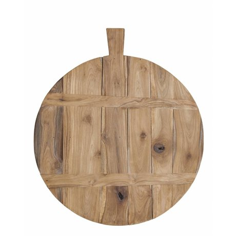 HK-living Teak cutting board, brown, Ø50cm