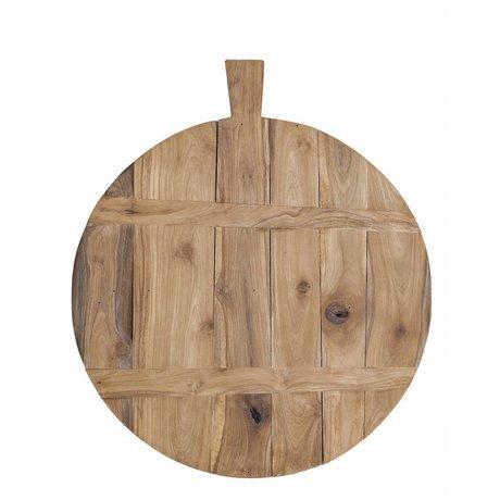 HK-living Tik kesme tahtası, kahverengi, Ø50cm