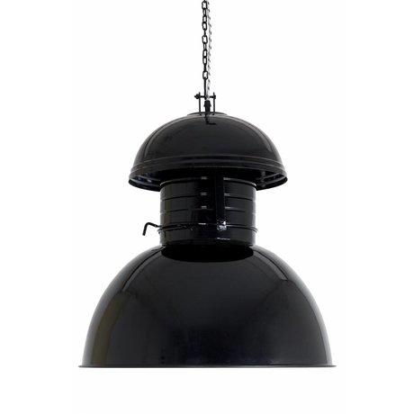 "HK-living Industrie-Hängelampe ""Warehouse"" XL, schwarz, Metall, Ø56cm"