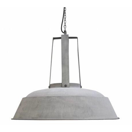 """HK-living Industrial lampe suspendue """"atelier"""" XL, gris mat, métal, Ø74cm"""