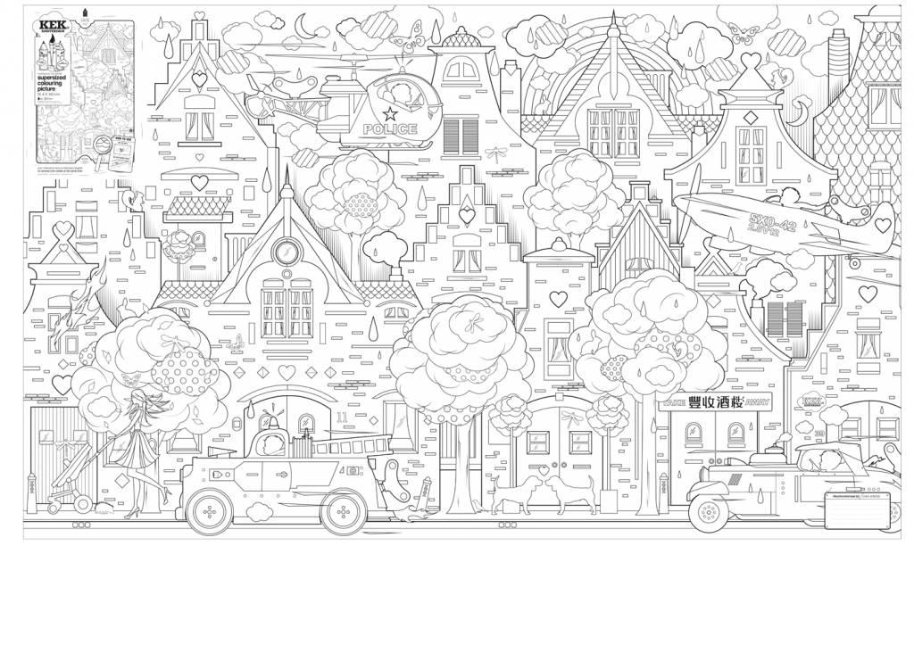 Kek Amsterdam Kağıt 91x150cm şehirde Resim Boyama Leflivingcom