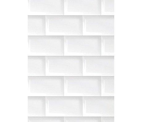 Kek Amsterdam Tapete Fliesen 089, weiß, 8.3mx 47,5 cm